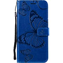 LOBXI020113 Blue Lomogo Leather Wallet Case for Galaxy J3 V with Stand Feature Card Holder Magnetic Closure Shockproof Flip Case Cover for Samsung Galaxy J3 2016//Express Prime//Amp Prime