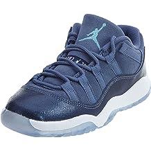 Nike Boys Team Hustle D 7 Low Basketball Shoe Binary Blue//White//Polarized Blue Size 4 M US GS