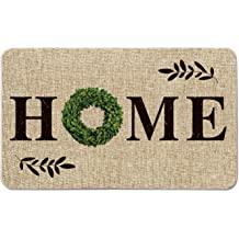 Seasonal Winter Christmas Holiday Low-Profile Floor Mat Switch Mat for Indoor Outdoor 17 x 29 Inch Artoid Mode Buffalo Plaid Welcom to Our Porch Decorative Doormat
