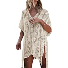 e2bbc0059f Women's Bathing Suit Cover Up for Beach Pool Swimwear Crochet Dress