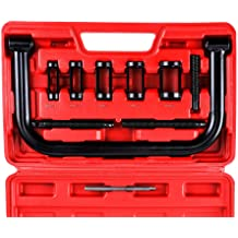 Overhead Valve Spring Terisass Overhead Valve Spring Compressor Removal Tool for OHV OHC CHV Engines Seal Keeper Replacemet