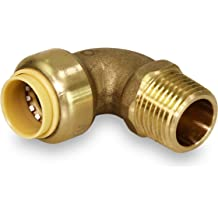 2 Pieces VE-FITS 1//2 Inch Pipe Plug Countersunk Brass Fittings 14 Threads, 0.55 Inch Length