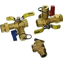 Clean Brass Rheem RTG20220AB Webstone Tankless Water Heater Service Valve Kit