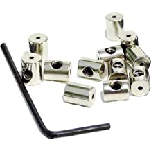 5.5 x 9 mm Gold and Silver, 72 Pieces Pin Keepers Locking Clasp with Wrench Pin Backs Replacement