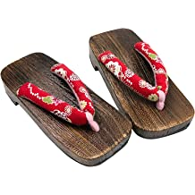 Demon Slayer Cosplay Kimetsu no Yaiba Kamado Tanjiron Shoes Geta Clogs Slippers
