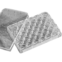 Well Volume 360 microliter Case of 50 Corning 3585 Polystyrene Flat Bottom 96 Well Clear Microplate With Lid