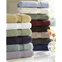 Blue 95/% carded cotton 600-gram weight Made in Portugal 5/% polyester Carnaby 2-Bath Towels by Kassatex body cuff