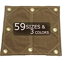 10x16 18oz Heavy Duty Canvas Tarp with Reinforced Grommets Every 2 Tarp Nation