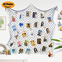2 Pack Black and White Multifunctional Metal Grid Wall Decor Organizer Mesh Panels for Photo Hanging Display Decoration for Living Room Bedroom Nursery Room YINASI Grid Photo Wall Frames