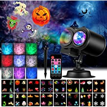 Auxiwa Halloween Lights with Pumpkin Projector Lights Waterproof Outdoor Indoor Holiday Light LED Landscape Lights for Halloween Theme Party Yard Garden Decorations