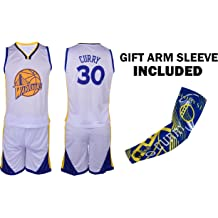 Forever Inc Curry Kids Basketball Premium Quality Gift Set Jersey with Shorts Bonus Backpack Youth Sizes