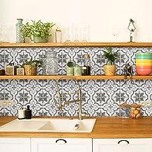 3D Peel and Stick Backsplash 4 Sheets of Kitchen and Bathroom Stick on Tiles Vintage Bazzini Franco 19.46cm x 19.46cm Smart Tiles Self Adhesive Wall Tiles 7.75 x 7.75