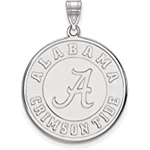 University of Oklahoma Sooners OU School Letters Disc Pendant Gold Plated Silver 26x25mm