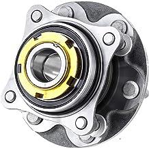 QJZ 1-Pack 512384 - Rear Driver or Passenger Side Wheel Hub Bearing Assembly for 2007-2012 Nissan Sentra 4-Wheel ABS Models ONLY 4 Lug-Hub