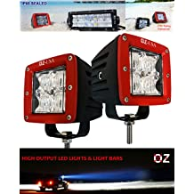 POD Flood 3d led lights fog atv offroad 3 x 4 race beam truck motorcycle rv cube