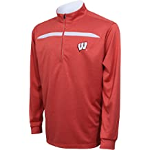 Crable Adult NCAA Womens Campus Specialties Quarter Zip Buffalo Check Fleece Red//Black X-Large
