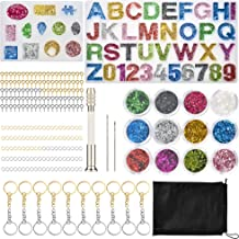 Jewelry Craft Making Set Letter Number Resin Mold Tool for Making Jewelry House Number Silicone Resin Molds 237Pcs DIY Alphabet Resin Casting Mold Kit Key Chain