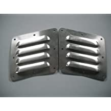 "RodLouvers Pair of Angled 4/"" 11 Louvered Panels"