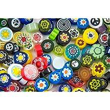 Millefiori COE 96 Glacial Art Glass SP14101-96, 11101-96, 13101-96, 41101-96, 42110-96, 43101-96 Assorted Holiday Mix Murrine ASRT-HD3-96