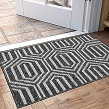 melupa Indoor Doormat Absorbent Mats 23.6x15.7 Non Slip Door Mat for Small Front Door Inside Floor Mud Dirt Trapper Mats Cotton Entrance Rug Shoes Scraper Machine Washable Carpet
