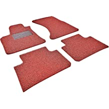 Red and Black Autotech Zone Custom Fit Heavy Duty Custom Fit Car Floor Mat for 2009-2016 Audi A4 Sedan All Weather Protector 4 Pieces Set